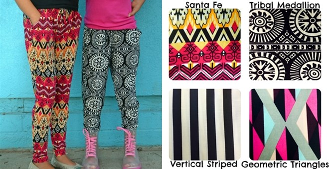 Girls Printed Soft Pants- 4 Stylish Prints