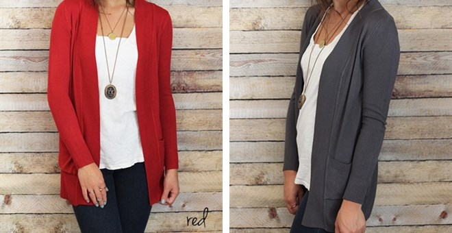 Everyday Basic Cardigan- S-3XL
