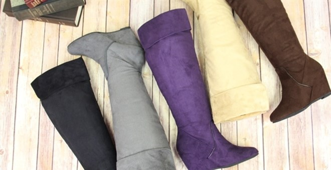 BLOWOUT SALE! Women's Martini Tall Wedge Boots- 5 Colors