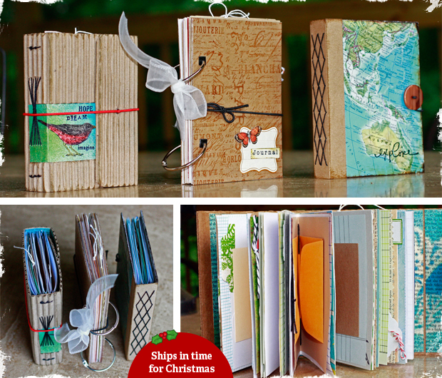 Handmade journals from new and recycled materials jane for Homemade recycled products
