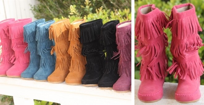 NEW! Girls & Infants Fringe Boots! | Jane