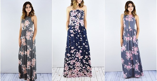 Floral Maxi Dress with Side Pocket | S-XL | Jane
