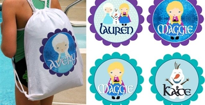 Personalized Drawstring Backpack- 10 Character Inspired Designs!
