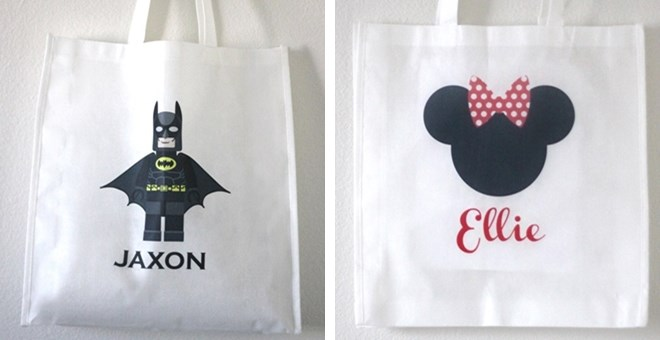 Personalized Character Tote Bags