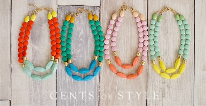 Darling Two Strand Beaded Necklaces!