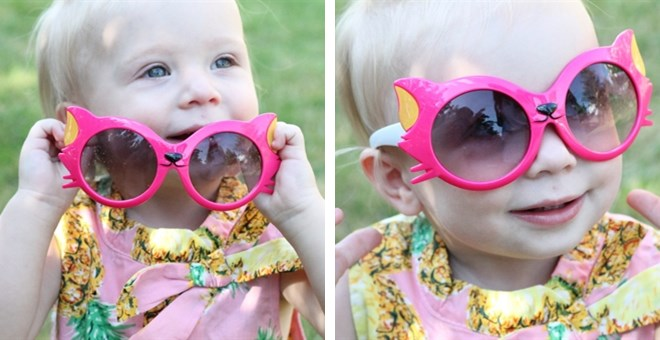 Cat Ears and Whiskers Sunglasses for Kids