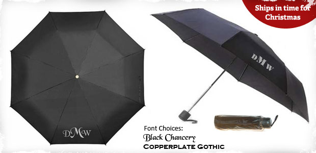 Personalized Folding Umbrella Monogrammed With Your
