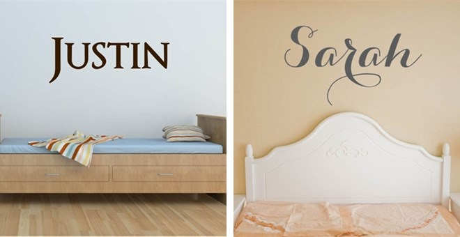 Beautiful Personalized Name Vinyl Decals Jane