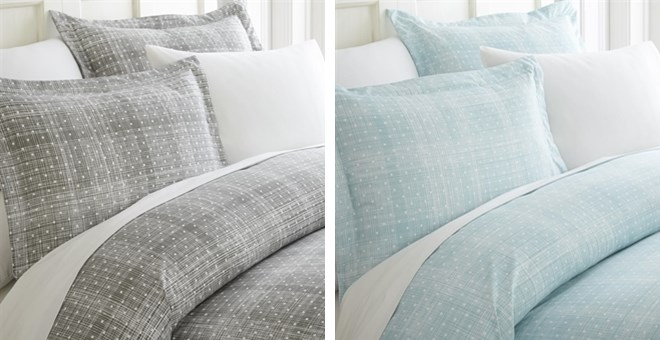 Super Soft Polka Dot Pattern Duvet Cover Set Jane