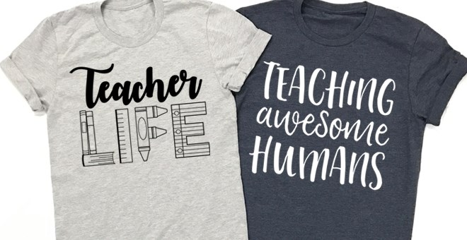 c09991b9713 Teaching Awesome Humans or Teacher Life Tees from Jane - Just $13.99 ...