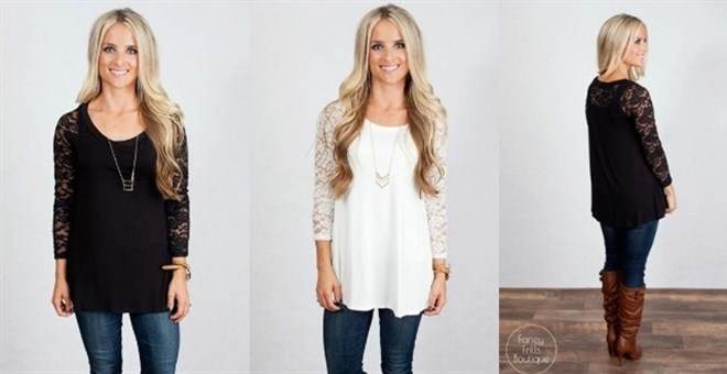 Lace Tunic Top!