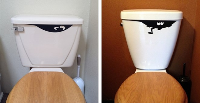 Toilet Monster Decal Choice Of 3 Sytles Jane