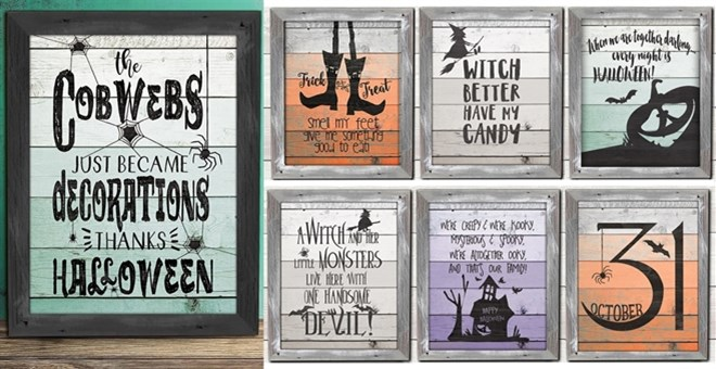 custom rustic happy haunts prints jane