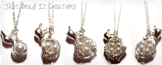 Beautiful Bird's Nest Necklaces