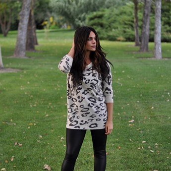Animal Print Cardigan | Jane