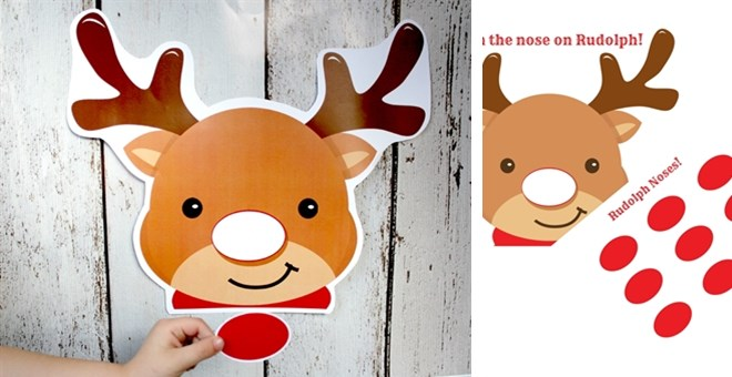 graphic relating to Pin the Nose on Rudolph Printable referred to as pin the tail upon rudolph xmas social gathering sport - Do-it-yourself Xmas