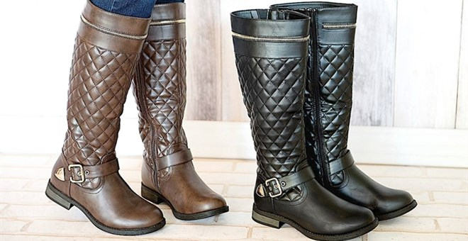 Gorgeous Riding Boots with Quilted Detailing! | Jane