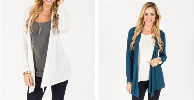 Open Front Cardigan | S-XL | Free Shipping