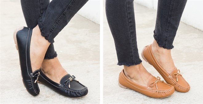 Faux Leather Loafers | Free Shipping