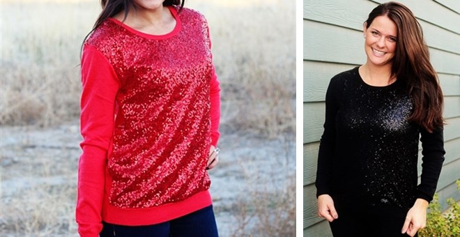 Sequin Sweater! Perfect For Holiday Parties | Jane