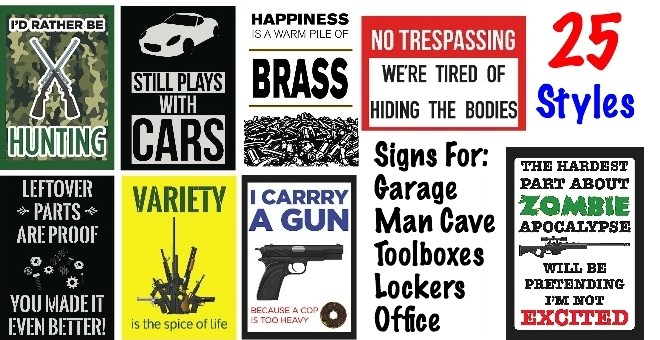 Gifts For Man Cave Garage : Man cave garage toolbox funny novelty signs great