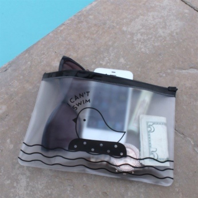 'I Can't Swim' Water Resistant Bags Only $3.99