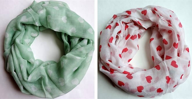 valentines day heart infinity scarves 5 styles jane