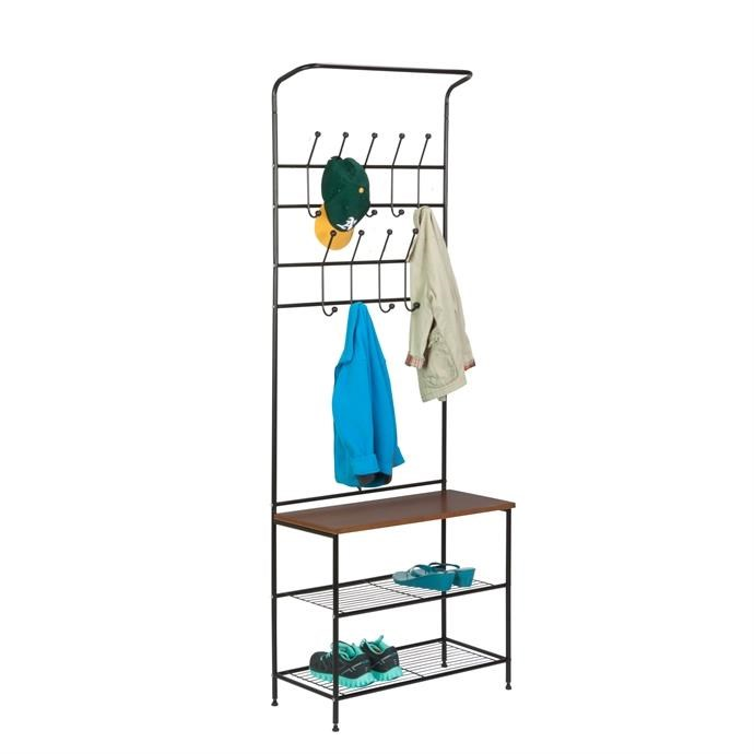 Entryway Bench with Hooks with Free Shipping Only $51.99