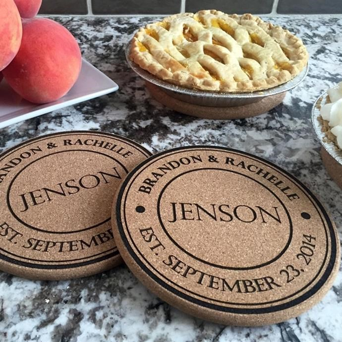 Jane: Personalized Kitchen Hot Pads / Set of 2 Only $8.99