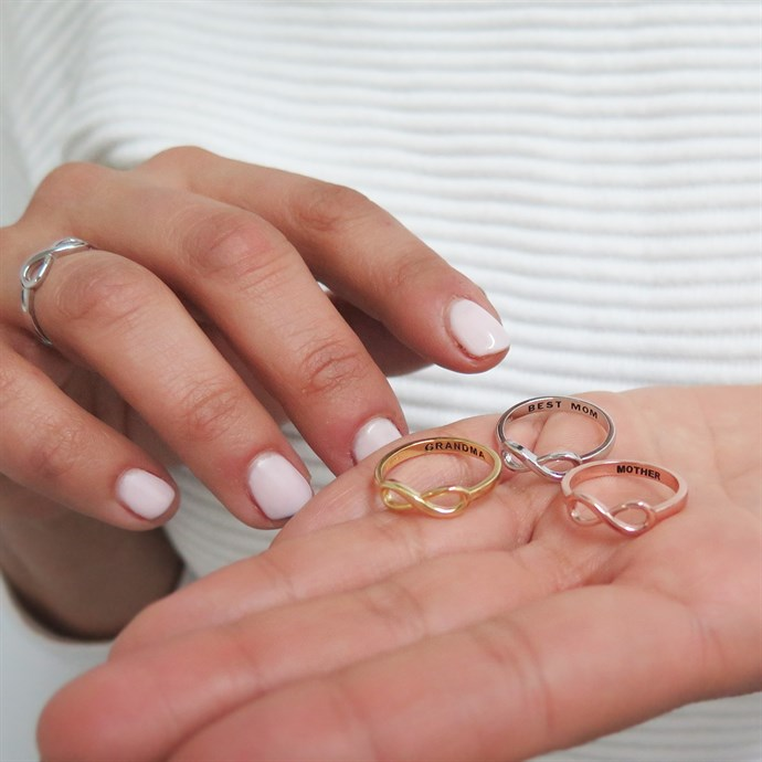 Jane: Sterling Silver Infinity Rings / Mother's Day Gift Only $4.99
