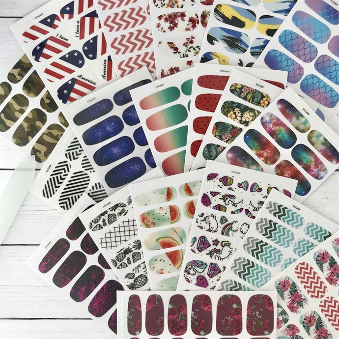 Summer Nail Wraps / 19 Patterns Only $4.99