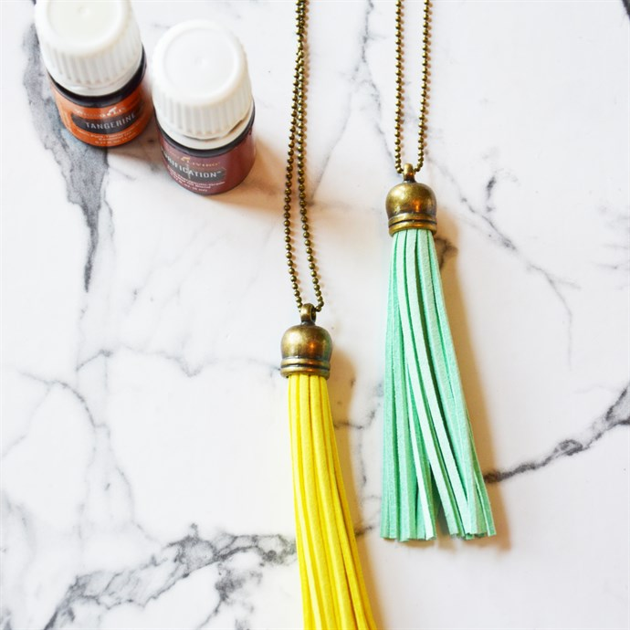 Long Tassel Diffuser Statement Necklaces / 26 Colors Only $4.49