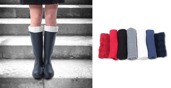 Designer Inspired, Cable Knit Rain Boot Liners! - 5 colors | Jane