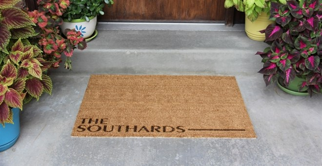 Personalized Door Mats Jane