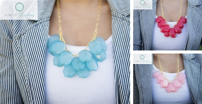 New Droplet Statement Necklace! – 6 Color Options!