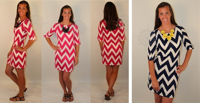 Chevron Dress- Choose from 5 Hot Summer Colors! | Jane