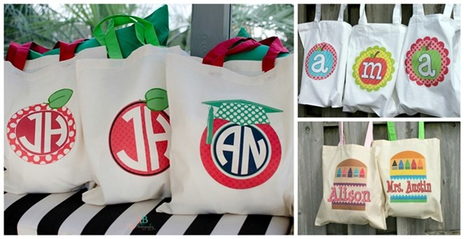 Personalized Teacher Totes - 11 Designs! | Jane