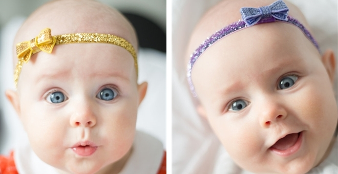 Glitter Bow Baby Headbands – Tons of color options!!