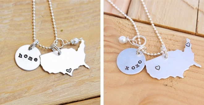LONG DISTANCE LOVE OR LOVE WHERE YOU LIVE NECKLACE!