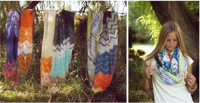 The Perfect Fall Chevron/Aztec Infinity Scarf!