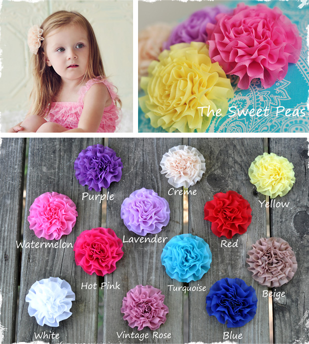 Set of 3 Gorgeous Flower Hair Clips For Any Age and Any ...