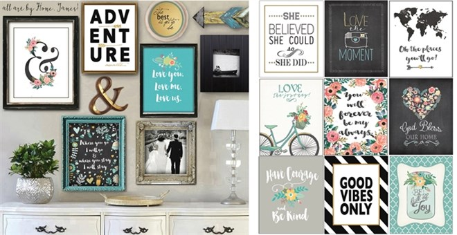 Collage Wall Art bogo free collage wall art-mix & match! | jane