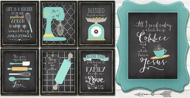 BOGO Free Kitchen Art-Chalkboard Styles! | Jane