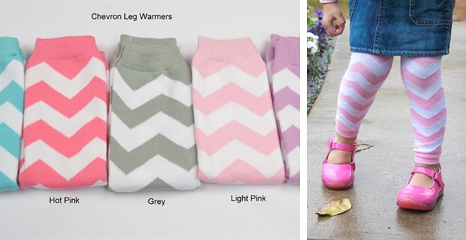Trendy Chevron Leg Warmers Choose From 5 Spring Colors