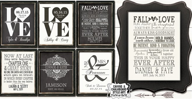 11x14 or 8x10 personalized love prints jane