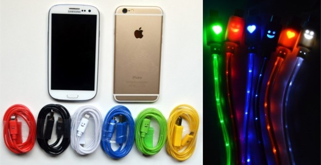 Lightup Iphone Amp Android Chargers 6 Colors Jane