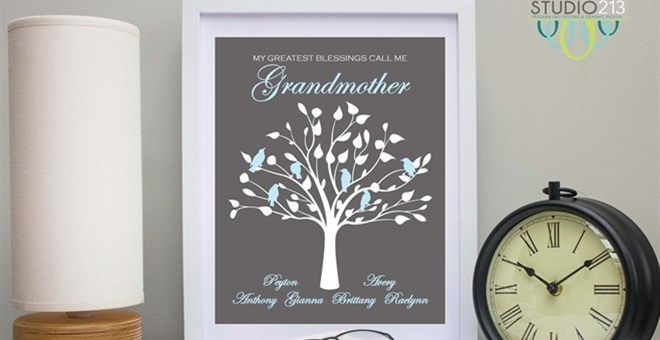 They're Back! Personalized Mom & Grandma Family Tree Prints ...