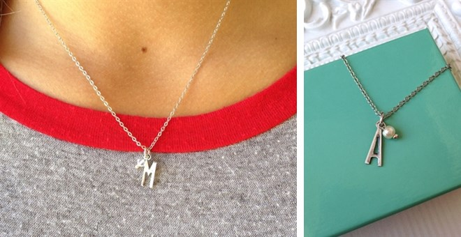 Simple Initial Necklace FREE GIFT BOX | Jane