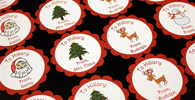 Personalized Holiday Gift Stickers Jane
