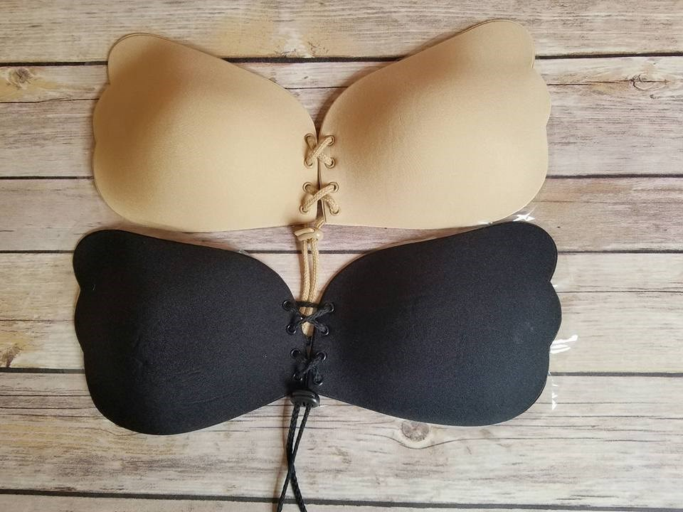 1. WingsLove Reusable Strapless Self Adhesive Bra Sexy Nubra. Check Price on Amazon. Small cup sized boobs; this fine sticky bra from WingsLove is for you. This is the best option for any lady with breasts smaller than size Fashioned by pure medical .